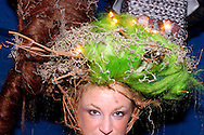 PHILADELPHIA - NOVEMBER 12: Tammy DeLong, 25 of Fantastic Sam's of Bethlehem, Pennsylvania parades in costume during Hairball 9 at Shampoo Niteclub November 12, 2005 in Philadelphia, Pennsylvania. Hairball, which is the East Coast's largest annual hair design competition featured models sporting outrageous themed hair designs and parade the catwalk. All proceeds from the event will benefit cancer and HIV/AIDS research and treatment at the world-renowned City of Hope National Medical Center and Beckman Research Institute. (Photo by William Thomas Cain/photodx.com)