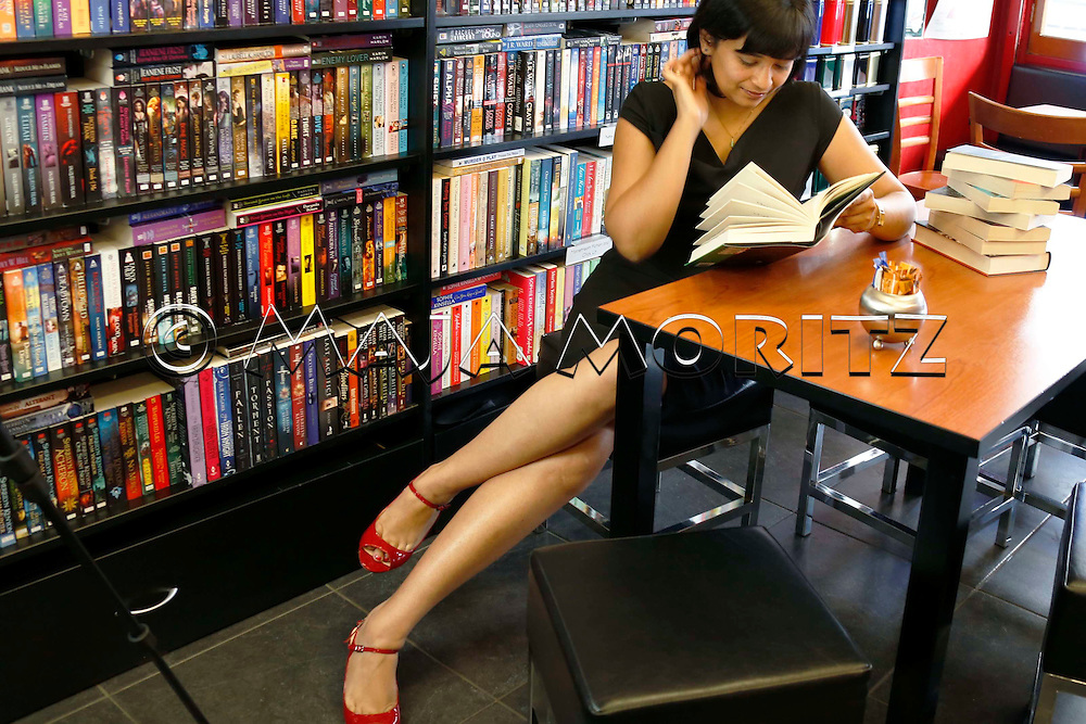 "Nalini Singh at the ""CHAPTER"" bookshop and cafe in Mount Eden, Auckland, New Zealand"