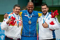 ALEXANDROV Alexander, IGE Jeffrey, NIKOLAIDIS Efstatios, 2014 IPC European Athletics Championships, Swansea, Wales, United Kingdom