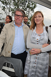 DOMINIC PRINCE & ROSE PRINCE at a party to celebrate the publication on 'Let's Eat: Recipes From My Kitchen Notebook' by Tom Parker Bowles held at Selfridge's Rooftop. Selfridge's, Oxford Street, London on 27th June 2012.