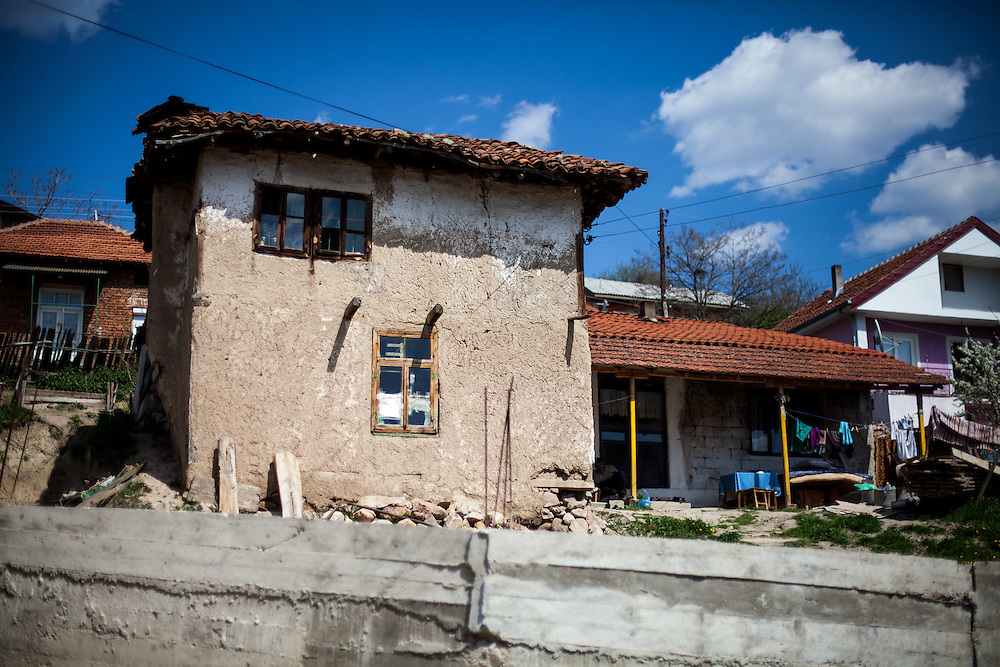 Old and new housing in the city of Crnik, Macedonia.