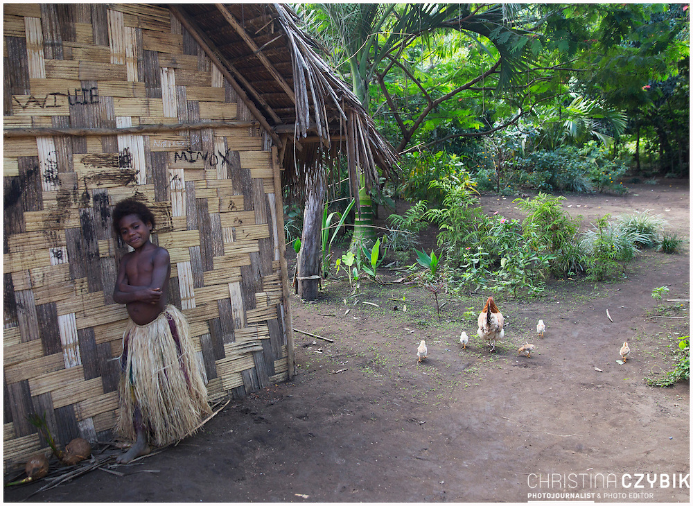 Louinio Custom Village on the island of Tanna, Vanuatu