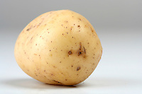 Close up of potato on white backround