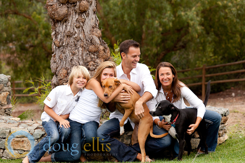 Luisa, Peter, Luca and Hunter Csathy, Family Portraits San Diego.
