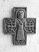 At the entrance to the Chambre-d'Hote accommodation near Montreal du Gers, there was a modern cross on one side of the doorway. It represented harmony and peace.