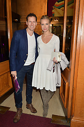 BRENDAN COLE and his wife ZOE at the Cirque Du Soleil's VIP performance of Kooza at The Royal Albert Hall, London on 6th January 2015.