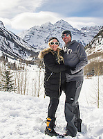 Aspen - Snowmass Colorado.  Ashcroft Touring Center.  T Lazy 7 Snowmobile Tours. ©2017 Karen Bobotas Photographer