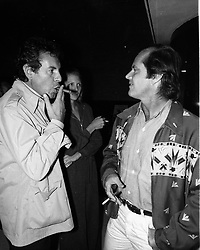 Oct. 5, 1976 - London, England, U.K. - Actor JACK NICHOLSON and MILOS FORMAN at the 'Matter of Time' gala benefit premiere at The Festival Theatre. (Credit Image: © Keystone Press Agency/Keystone USA via ZUMAPRESS.com)