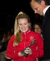 AMSTELVEEN -  speler van het toernooi, Honey Webb van Engeland,  damesfinale Nederland-Belgie bij de Rabo EuroHockey Championships 2017. COPYRIGHT KOEN SUYK