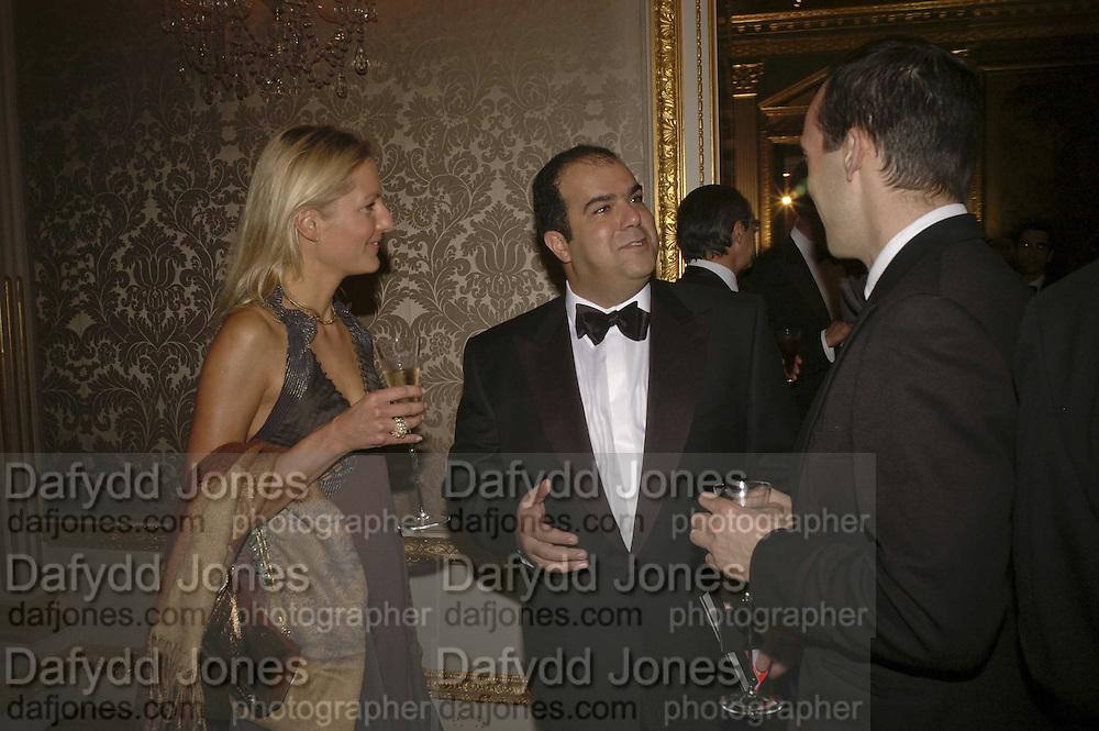 Katinka Barysch and Stelios Haji-Ioannou, Ark Gala Dinner, Marlborough House, London. 5 May 2006. ONE TIME USE ONLY - DO NOT ARCHIVE  © Copyright Photograph by Dafydd Jones 66 Stockwell Park Rd. London SW9 0DA Tel 020 7733 0108 www.dafjones.com