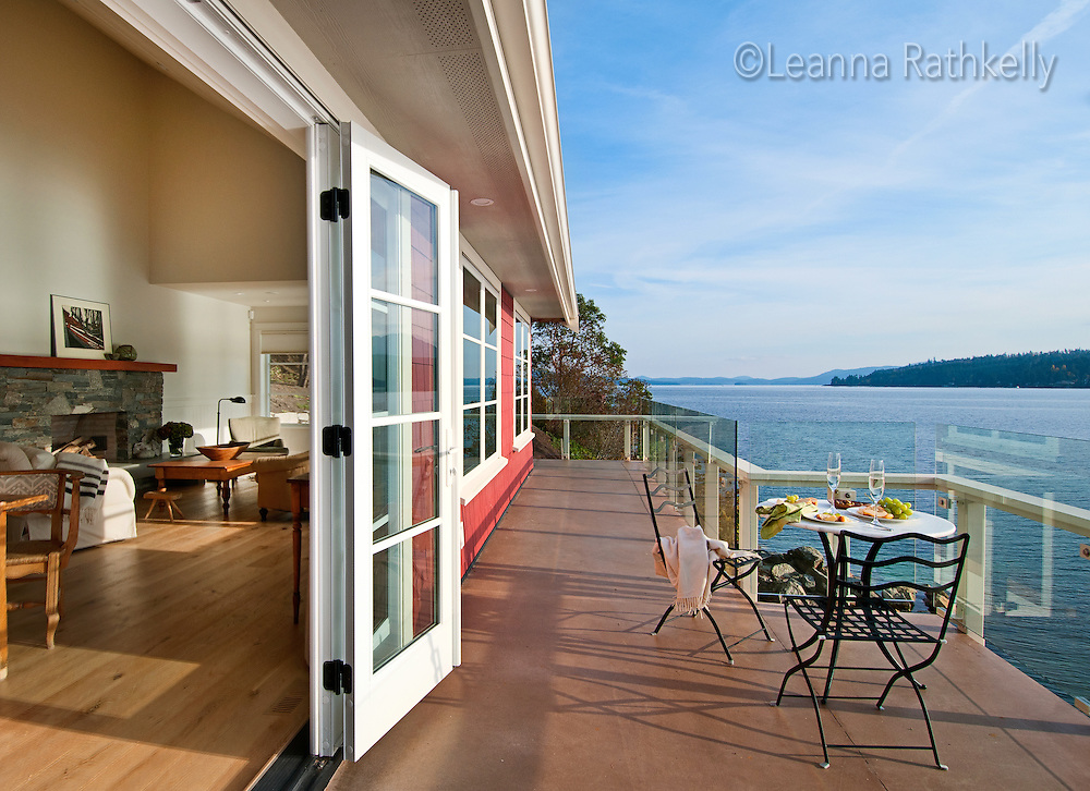 An old summer cottage on the ocean at Mill Bay on Vancouver Island, BC, is transformed into a comfortable fulltime residence by Jodi McKeown Foster, designer and Tom Humber, builder.