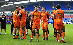 Wolverhampton Wanderers players celebrate at full time - Mandatory by-line: Matt McNulty/JMP - 21/04/2018 - FOOTBALL - Macron Stadium - Bolton, England - Bolton Wanderers v Wolverhampton Wanderers - Sky Bet Championship