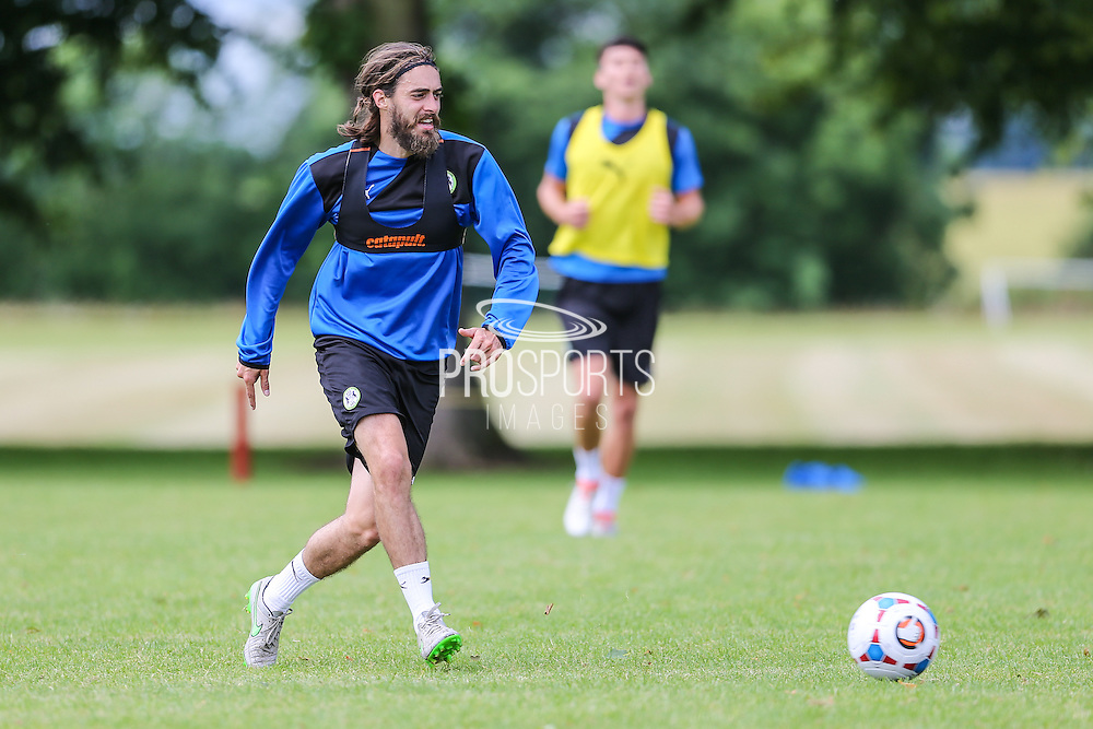 Forest Green Rovers Rob Sinclair during the Forest Green Rovers Training at the Cirencester Agricultural College, Cirencester, United Kingdom on 12 July 2016. Photo by Shane Healey.