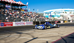 LONG BEACH, CA - APR 15: American Le Mans Driver Gunnar Jeannette/Ricardo Gonzalez of the CORE Autosport Team drive during practice run. Photo by Eduardo E. Silva