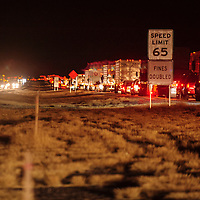 112913  Adron Gardner/Independent<br /> <br /> East-bound Interstate 40 traffic backups up for miles as west-bound traffic flows freely in Iyanbito Tuesday.