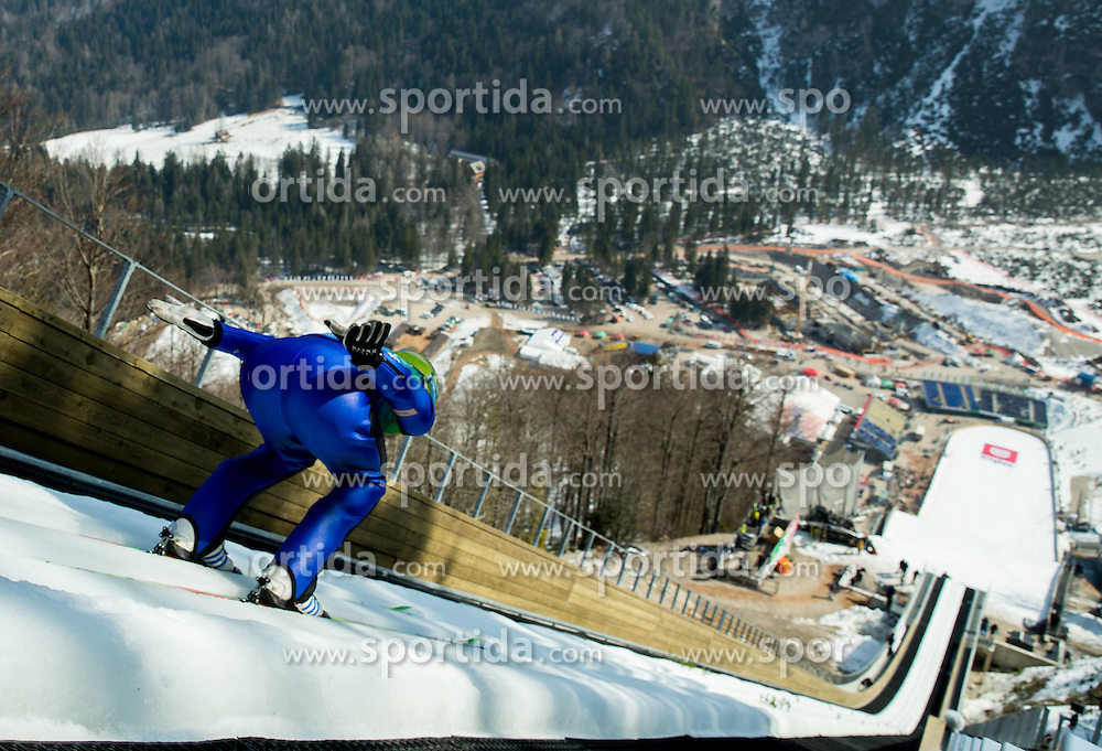 Rozle Zagar of Slovenia during first test of renovated Ski jumping Flying Hill 1 day before FIS World Cup Ski Jumping Final, on March 18, 2015 in Planica, Slovenia. Photo by Vid Ponikvar / Sportida