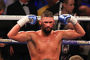 Tony Bellew celebrates his victory at the O2 Arena, London, United Kingdom on 5 May 2018. Picture by Phil Duncan.