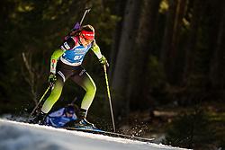 Lea Einfalt (SLO) during the Women 15 km Individual Competition at day 2 of IBU Biathlon World Cup 2019/20 Pokljuka, on January 23, 2020 in Rudno polje, Pokljuka, Pokljuka, Slovenia. Photo by Peter Podobnik / Sportida