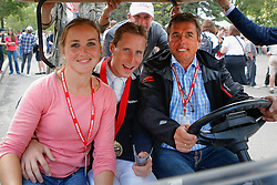 Devos Pieter (BEL) with his girlfriend Caroline Poels and Ludo Philippaerts and Simon Knops<br /> CN International Grand Prix<br /> CSIO Spruce Meadows - Calgary 2013<br /> © Dirk Caremans
