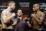 GLASGOW, SCOTLAND, JULY 17, 2015:  during the weigh-ins ahead of UFC Fight Night 72 inside the SSE Hydro Arena in Glasgow