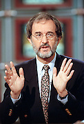 Author and Biographer Edmund Morris during NBC's Meet the Press October 3, 1999 in Washington, DC.