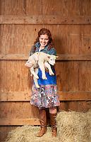 Rebecca Katzman on the Helt farm in Gambier, Ohio.(Jodi Miller)