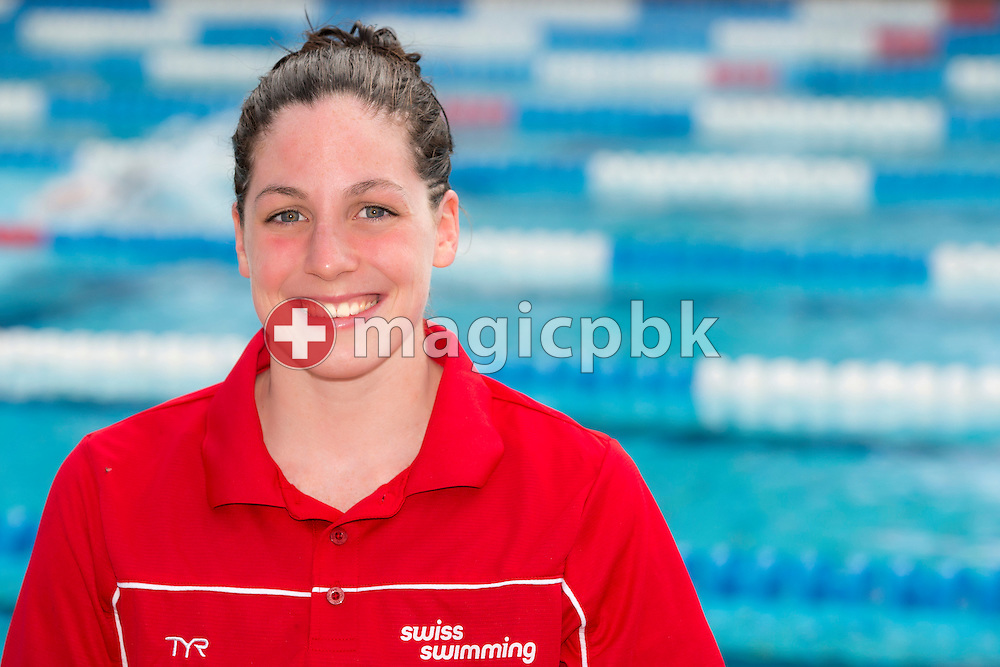 Danielle VILLARS of Switzerland poses for a portrait photo during the Swiss Swimming Summer Championships held at the 50m outdoor pool at the Centro sportivo nazionale della gioventu in Tenero, Switzerland, Sunday, July 6, 2014. (Photo by Patrick B. Kraemer / MAGICPBK)