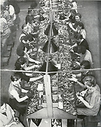 German women working in a war production unit in Germany circa 1942.