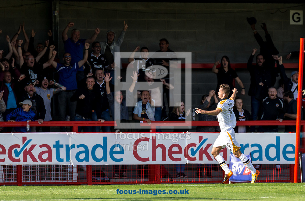 Daniel Turner of Port Vale celebrates his goal during the Sky Bet League 2 match at  Checkatrade.com Stadium, Crawley<br /> Picture by Liam McAvoy/Focus Images Ltd 07413 543156<br /> 05/08/2017