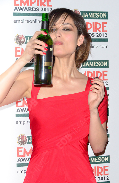 25.MARCH.2012. LONDON<br /> <br /> JAMESON EMPIRE AWARDS AT THE GROSVENOR HOUSE HOTEL ON MARCH 25, 2012 IN LONDON<br /> <br /> BYLINE: EDBIMAGEARCHIVE.COM<br /> <br /> *THIS IMAGE IS STRICTLY FOR UK NEWSPAPERS AND MAGAZINES ONLY*<br /> *FOR WORLD WIDE SALES AND WEB USE PLEASE CONTACT EDBIMAGEARCHIVE - 0208 954 5968*