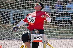 ENEVA Stela, BUL, Discus, F57/58, 2013 IPC Athletics World Championships, Lyon, France