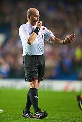 LONDON, ENGLAND - TUESDAY, SEPTEMBER 15th, 2009: Referee Konrad Plautz during the UEFA Champions League Group D match at Stamford Bridge. (Photo by Chris Brunskill/Propaganda)