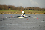 Eton, GREAT BRITAIN,  Alex PARTRIDGE (bow), and Alex GREGORY (stroke), M2-, row down the course, GB Trials 3rd Winter assessment at,  Eton Rowing Centre, venue for the 2012 Olympic Rowing Regatta, Trials cut short due to weather conditions forecast for the second day Sunday  13/02/2011   [Photo, Karon Phillips/Intersport-images]