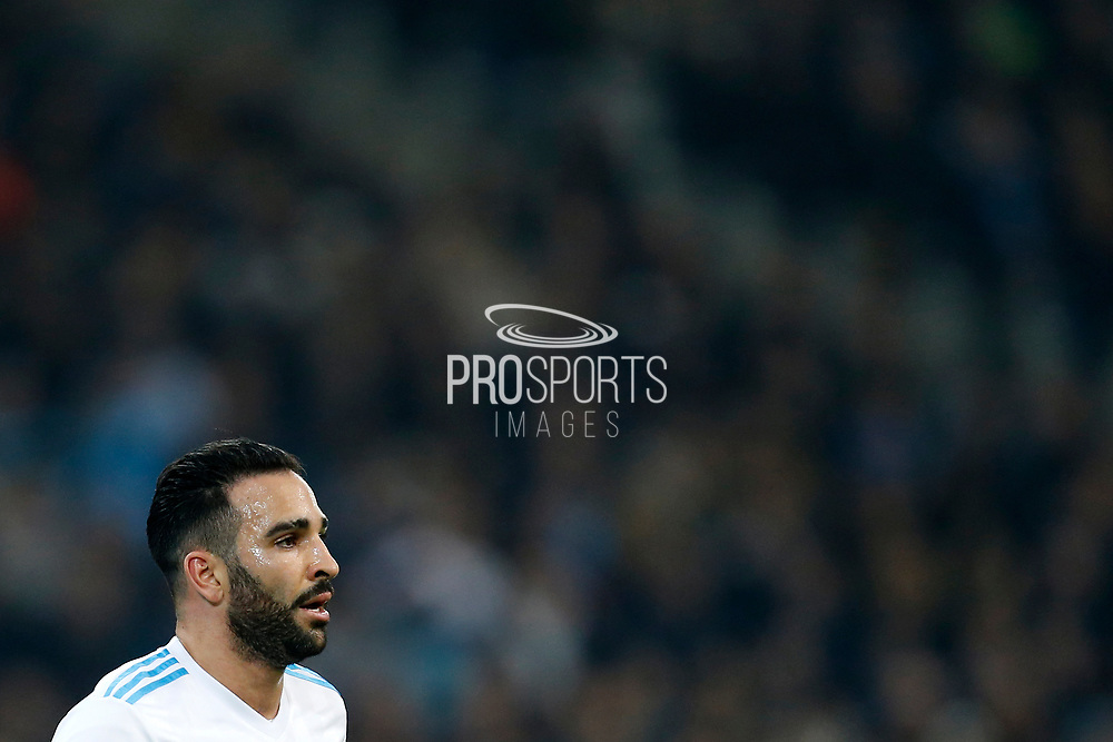Olympique de Marseille's French defender Adil Rami reacts during the French Championship Ligue 1 football match between Olympique de Marseille and AS Monaco on January 28, 2018 at the Orange Velodrome stadium in Marseille, France - Photo Benjamin Cremel / ProSportsImages / DPPI