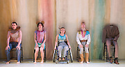 © Tony Nandi. 03/05/2014. Made up of disabled and non-disabled dancers, Stopgap Dance Company performs the London premiere of its latest work Artificial Things, following a critically acclaimed UK and European tour. Lillian Baylis Studio, Sadler's Wells Theatre, London.