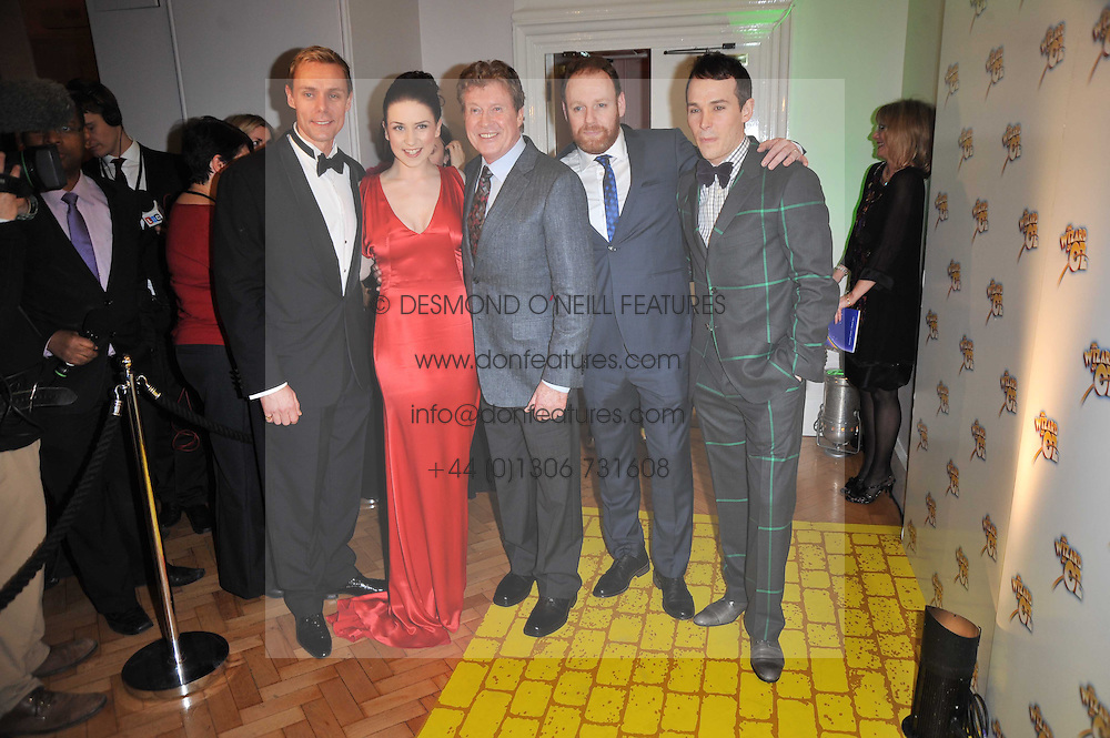 Left to right, EDWARD BAKER-DULY, DANIELLE HOPE, MICHAEL CRAWFORD, DAVID GANLY and PAUL KEATING at the press night of the new Andrew Lloyd Webber  musical 'The Wizard of Oz' at The London Palladium, Argylle Street, London on 1st March 2011 followed by an aftershow party at One Marylebone, London NW1