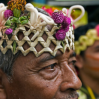 Malaysia Indigenous people with headgear
