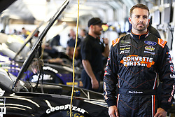 July 13, 2018 - Sparta, Kentucky, United States of America - Matt DiBenedetto (32) hangs out in the garage during practice for the Quaker State 400 at Kentucky Speedway in Sparta, Kentucky. (Credit Image: © Chris Owens Asp Inc/ASP via ZUMA Wire)