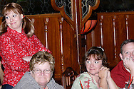 """Tamra Francis (left) during Mayhem & Mystery's production of """"County Fair Commotion"""" at the Spaghetti Warehouse in downtown Dayton, Monday, July 11, 2011."""