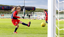 Girls from Dursley Town take part in a penalty shootout at during half time in the game between Bristol City Women and Oxford United Women - Mandatory by-line: Robbie Stephenson/JMP - 25/06/2016 - FOOTBALL - Stoke Gifford Stadium - Bristol, England - Bristol City Women v Oxford United Women - FA Women's Super League 2