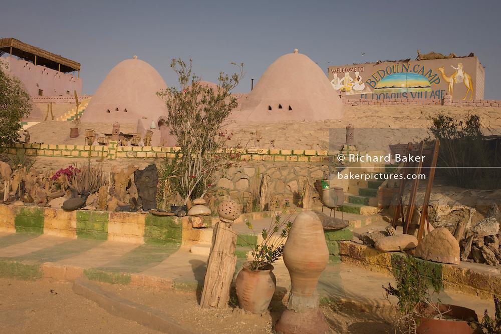 El Dohous Village in El Dakhla, the southern oasis in the Western Desert of Egypt is run by the bedouin family Zeydan at Dahkla Oasis, Western Desert, Egypt.