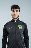 Portrait of Chinese soccer player Ilhamjan Iminjan of Guizhou Hengfeng Zhicheng F.C. for the 2017 Chinese Football Association Super League, in Guiyang city, southwest China's Guizhou province, 23 February 2017.