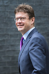 Downing Street, London, September 9th 2016.  Secretary of State for Business, Energy and Industrial Strategy Greg Clark arrives at Downing street for the weekly cabinet meeting following the Parliamentary summer recess.