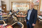 Culinary Institute of America, Poughkeepsie, November 2016.<br /> <br /> Student Alexander Lipkau im The Bocuse Restaurant<br /> <br /> Photo &copy; Stefan Falke <br /> New York <br /> www.stefanfalke.com <br /> stefanfalke@mac.com <br /> 917-2149029