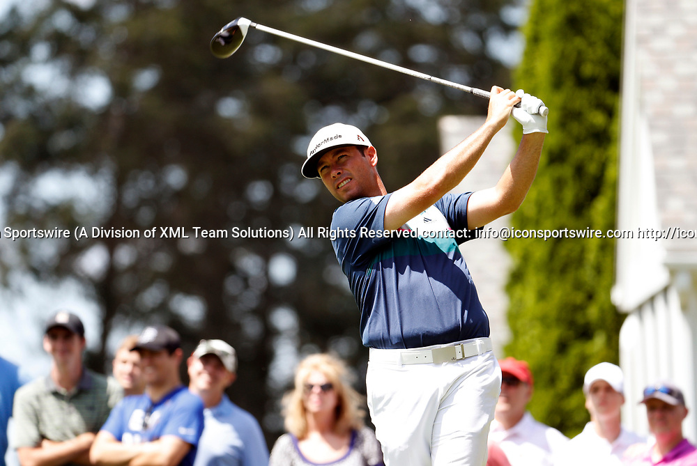 CROMWELL, CT - JUNE 24: Chez Reavie of the United States drives from the 6th tee during the third round of the Travelers Championship on June 24, 2017, at TPC River Highlands in Cromwell, Connecticut. (Photo by Fred Kfoury III/Icon Sportswire)