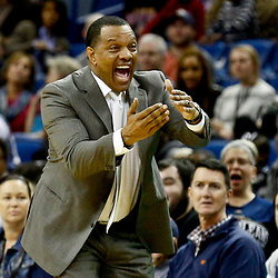 Dec 5, 2016; New Orleans, LA, USA; New Orleans Pelicans head coach Alvin Gentry against the Memphis Grizzlies during the second half of a game at the Smoothie King Center. The Grizzlies defeated the Pelicans 110-108 in double overtime.  Mandatory Credit: Derick E. Hingle-USA TODAY Sports