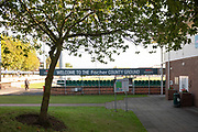 Entrance to Grace Rd before Day 1 of the Specsavers County Champ Div 2 match between Leicestershire County Cricket Club and Lancashire County Cricket Club at the Fischer County Ground, Grace Road, Leicester, United Kingdom on 23 September 2019.