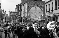Rossington and Bentley Branch banners. 1993 Yorkshire Miner's Gala. Wakefield.