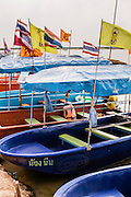 Boats at Nong Han lake, Udon Thani
