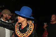 August 25, 2012-Brooklyn, NY: Recording Artist Erykah Badu backstage at the Afropunk Festival 2012 held in Brooklyn, NY on August 25, 2012. The Afropunk Festival has become a Brooklyn intuition, the focal point for the burgeoning Afro-punk movement. Over the past seven years, the festival has presented new artists before they hit it big, such as Grammy-nominated Santigold, The Noisettes and Janelle Monae. Afro-punk mainstays like Saul Williams, The Dirtbombs, and Dallas Austin have also graced Afro-punk's stages. ((Terrence Jennings/TerrenceJennings.com)